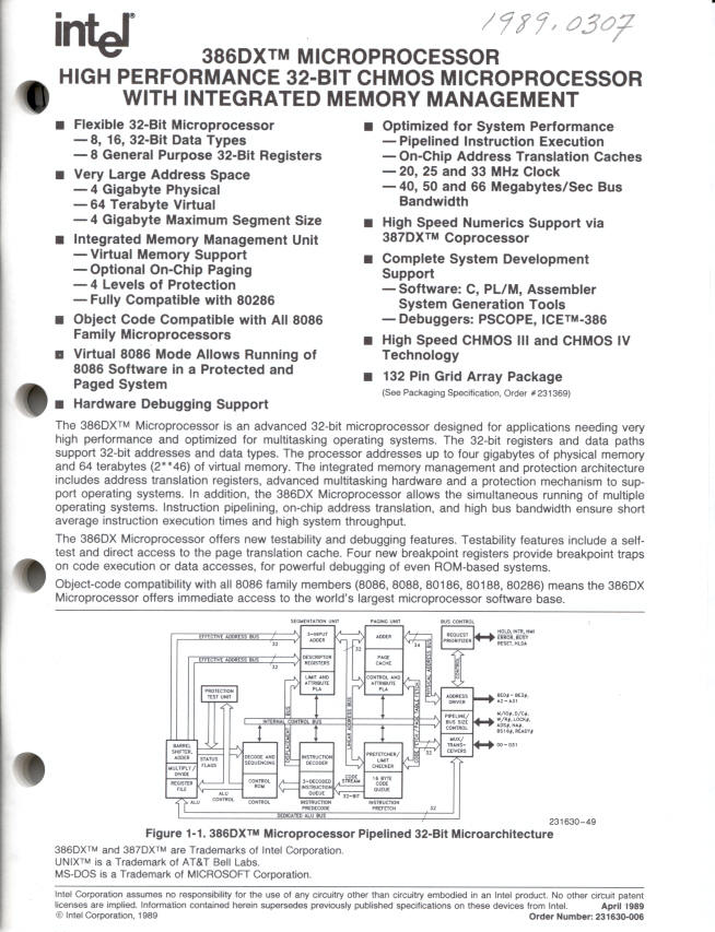 The Chip Collection - 386DX Microprocessor - Smithsonian Institution