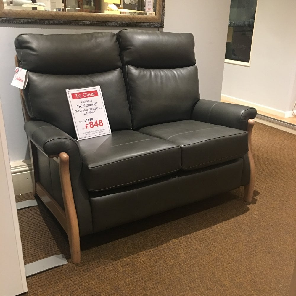 Ex Display Sofa Cintique Richmond 2 Seater Leather Sofa Clearance Ex Display Local Delivery Only