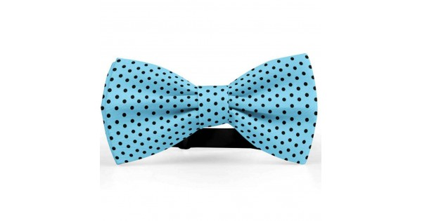 Bow Tie For Men Blue Butterfly Silk Satin Personalize