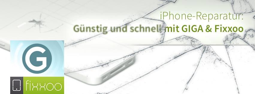 GIGA & Fixxoo: iPhone Display-Reparatur