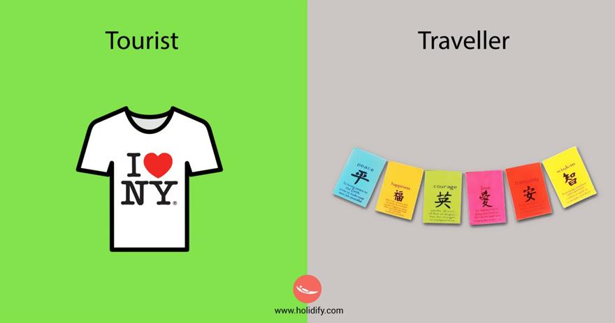 Unterschied-Tourist-Reisender (3)