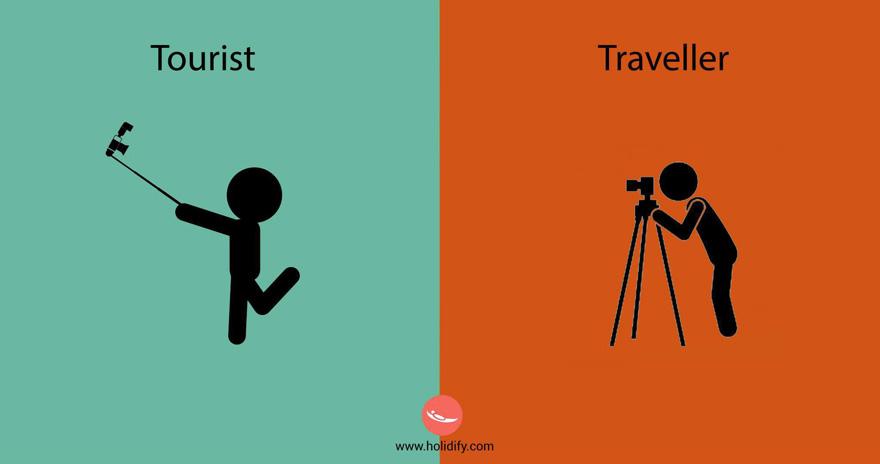 Was ist der Unterschied zwischen Tourist und Reisenden?