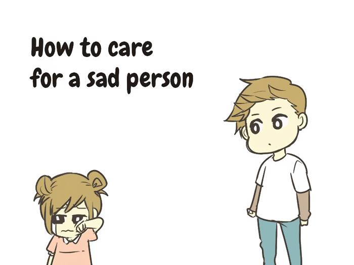 So kümmert man sich um einen traurige Person