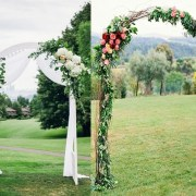 Decorated Arch in Your Colors for Cabin or Outdoor Wedding