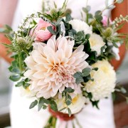 Bride's Bouquet and Matching Boutonniere Silk or Live $40.00 (Included in Celebrate with Us Package)