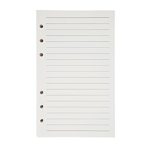 Willbond Refill Lined Paper Inserts 320 Pages for 6-Holes A6