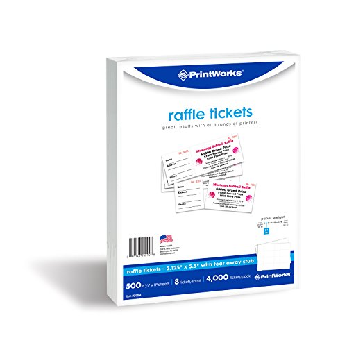 PrintWorks Perforated Paper for Raffle Tickets, Coupons, and More