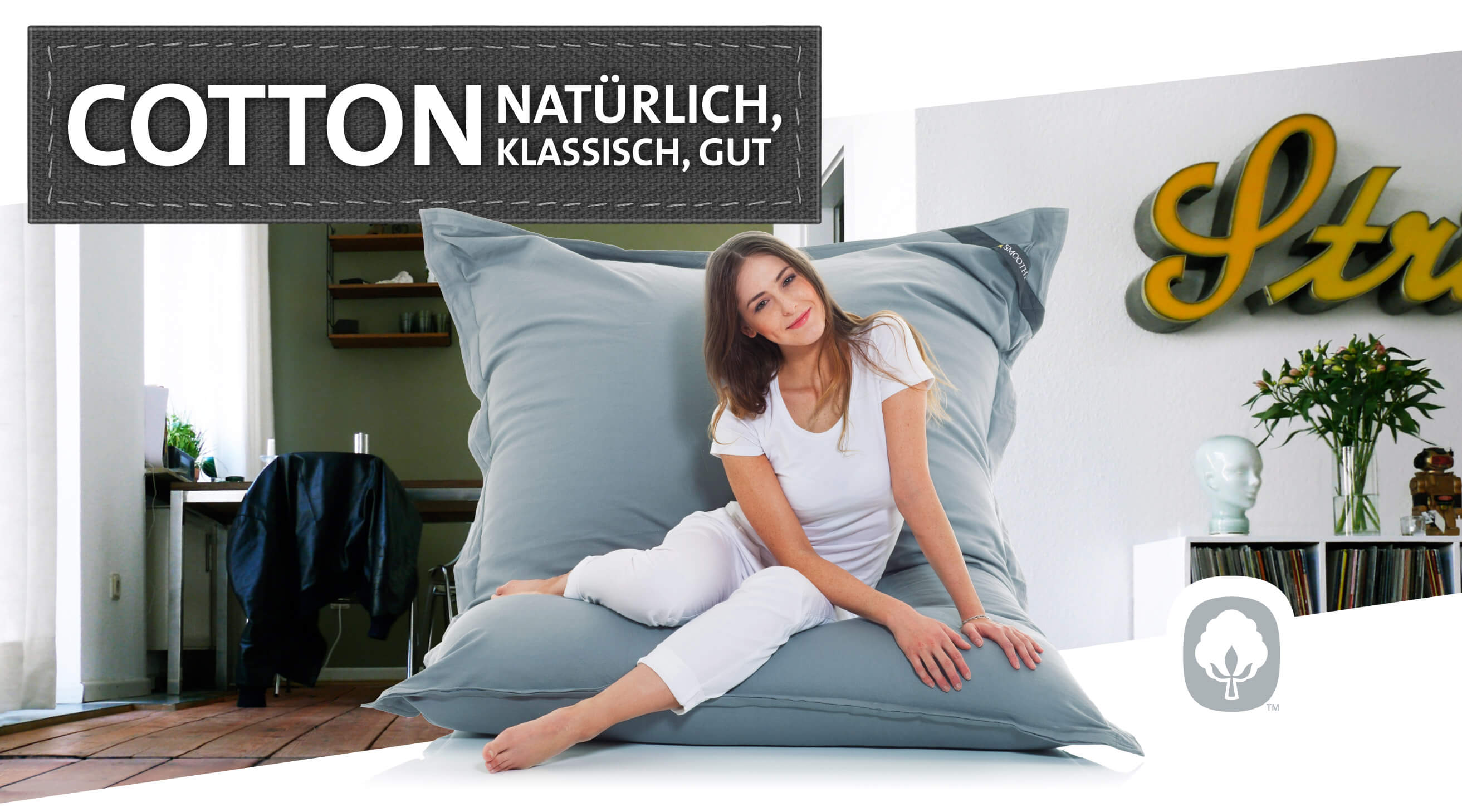 Ikoonz Sitzsack Made In Germany Basic Bull Sitzsack L Sitting