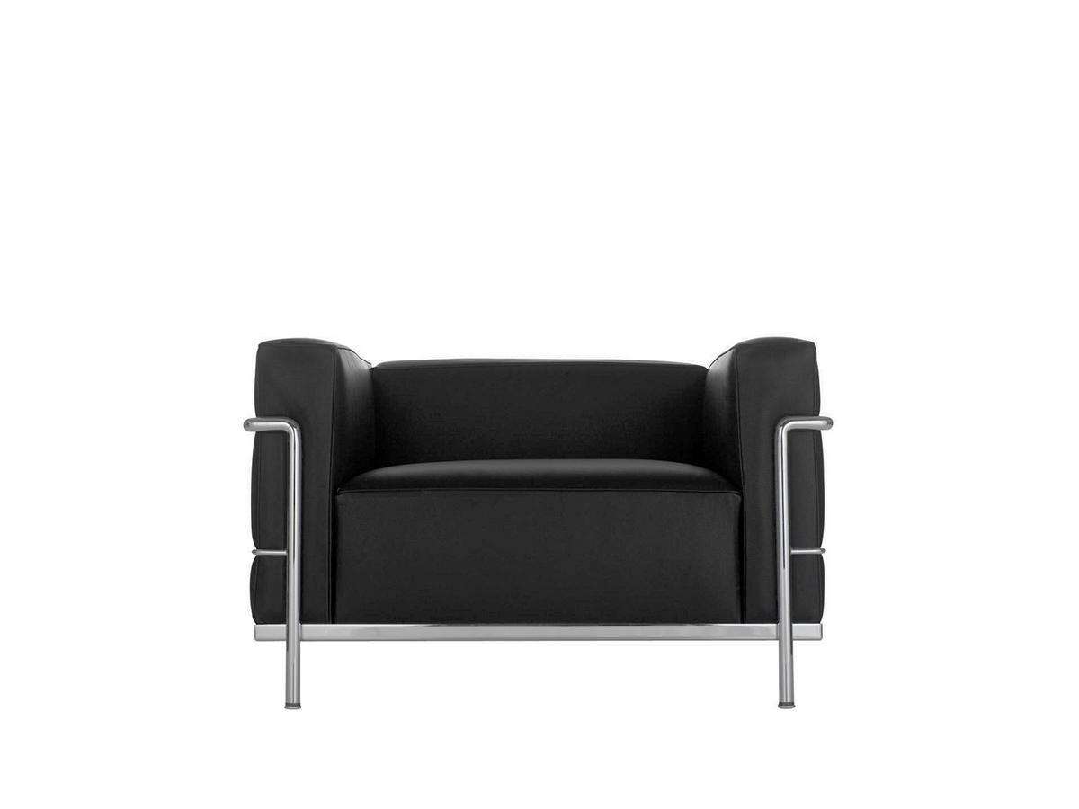Sessel Made In Germany Cassina Lc3 Armchair Chrome Plated Leather Scozia Black