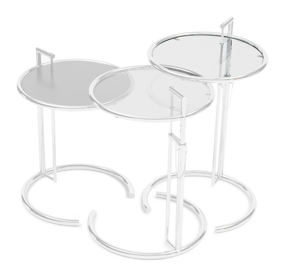 Eileen Gray Table Classicon Adjustable Table E 1027 Replacement Glass Crystal Glass Clear