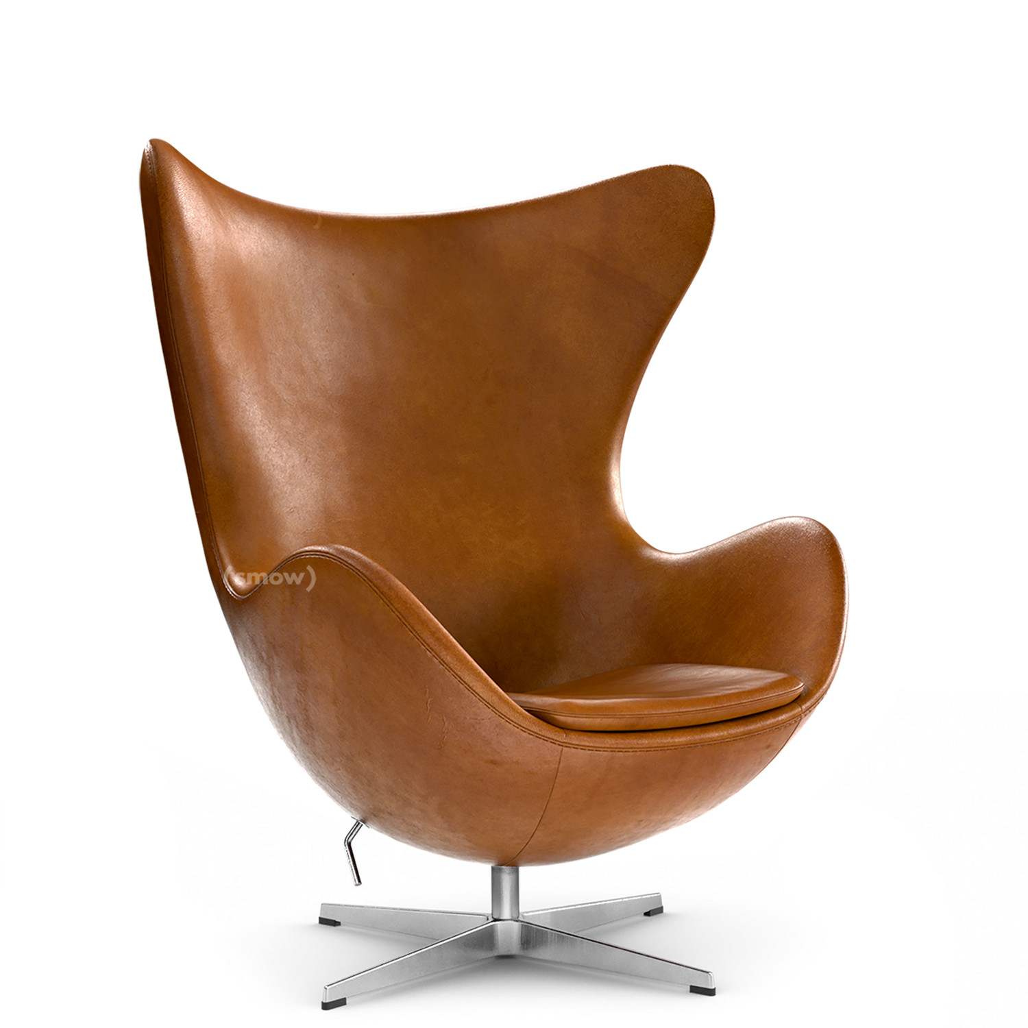 Egg Sessel Fritz Hansen Egg Chair Leather Grace Walnut Without Footstool