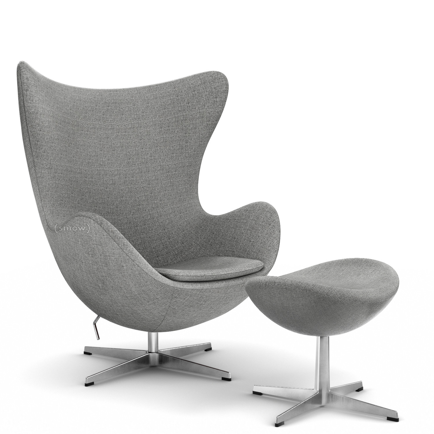 Egg Lounge Sessel Fritz Hansen Egg Chair Hallingdal 65 130 Grey With Footstool