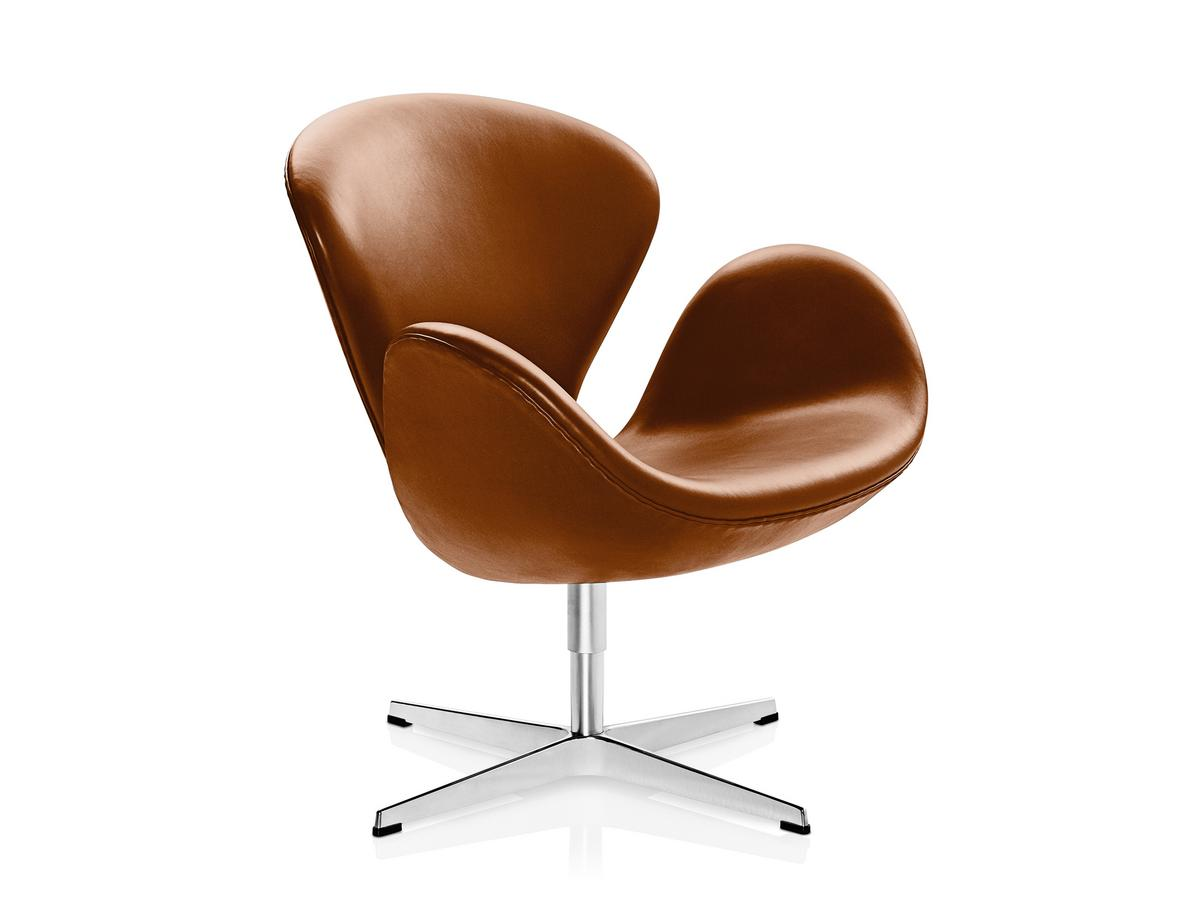 Swan Sessel Fritz Hansen Swan Chair Special Height 48 Cm Leather Grace