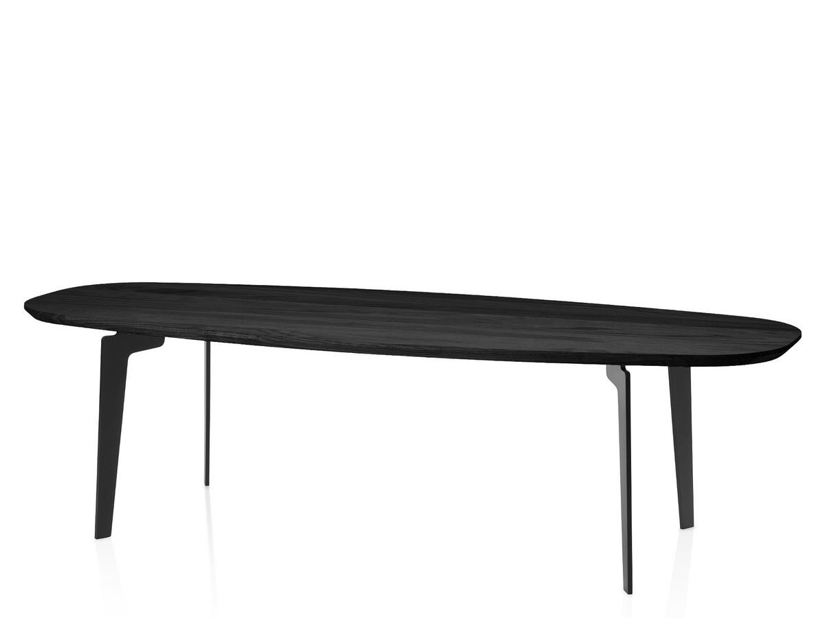 Couchtisch Montain Oak Fritz Hansen Join Coffee Table Fh61 Oval 130 X 50 Cm Black Varnished Oak