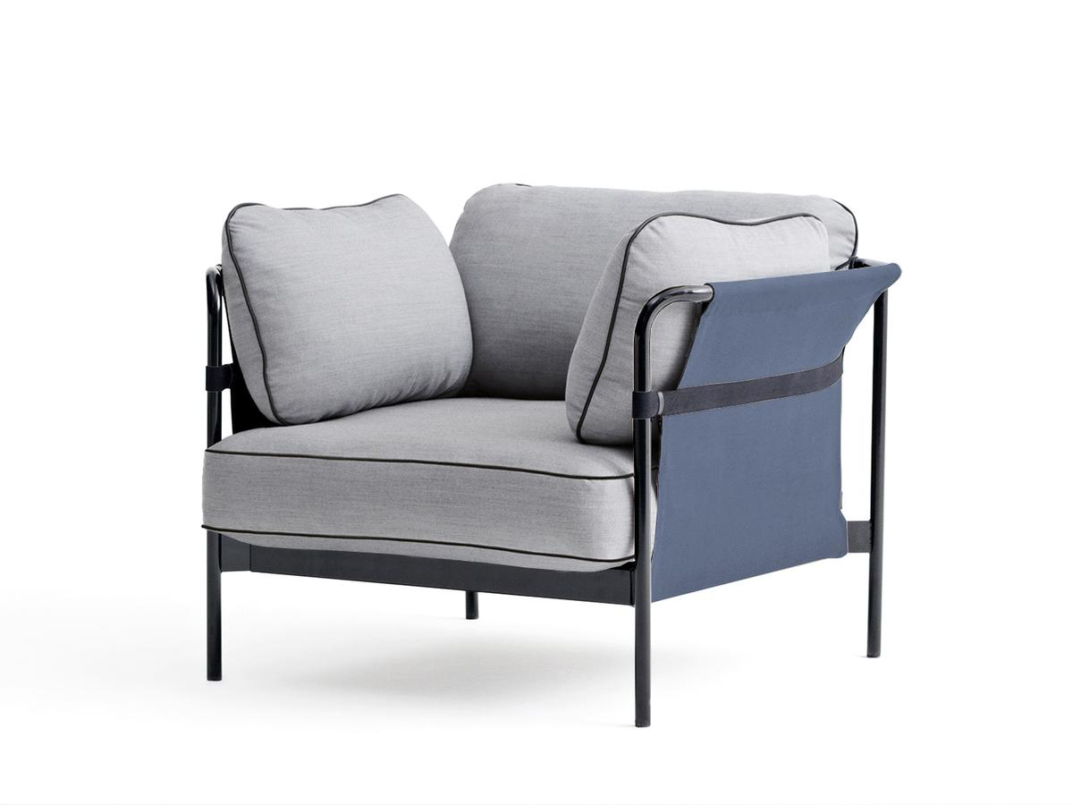 Aarhus Sessel Hay Can Lounge Chair Black Blue Surface Light Grey By Ronan