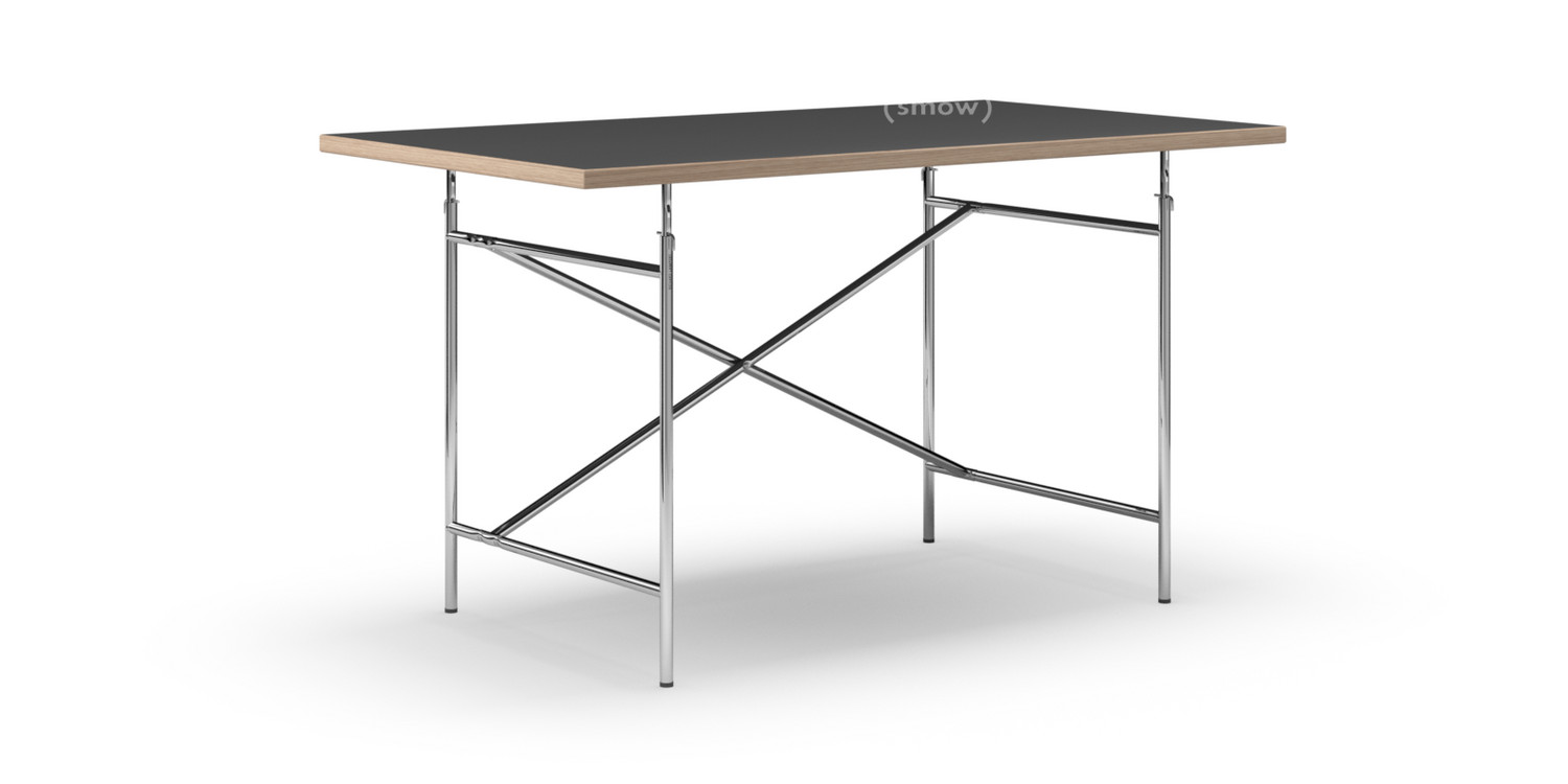 Egon Eiermann Richard Lampert Eiermann Table Linoleum Black Forbo 4023 With