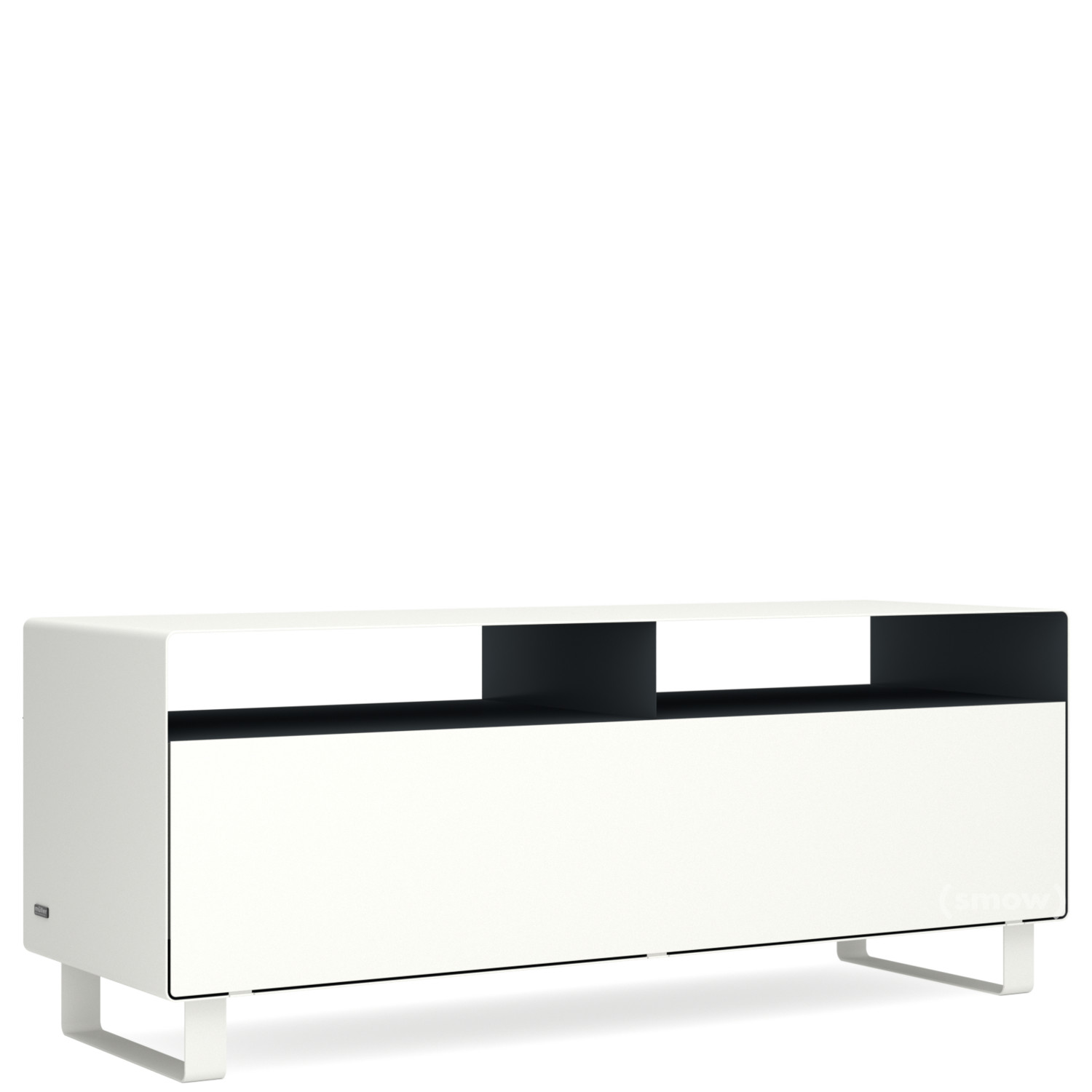 Anthrazit Grau Metallic Ral Müller Möbelfabrikation Tv Lowboard R 109n Bicoloured Pure White