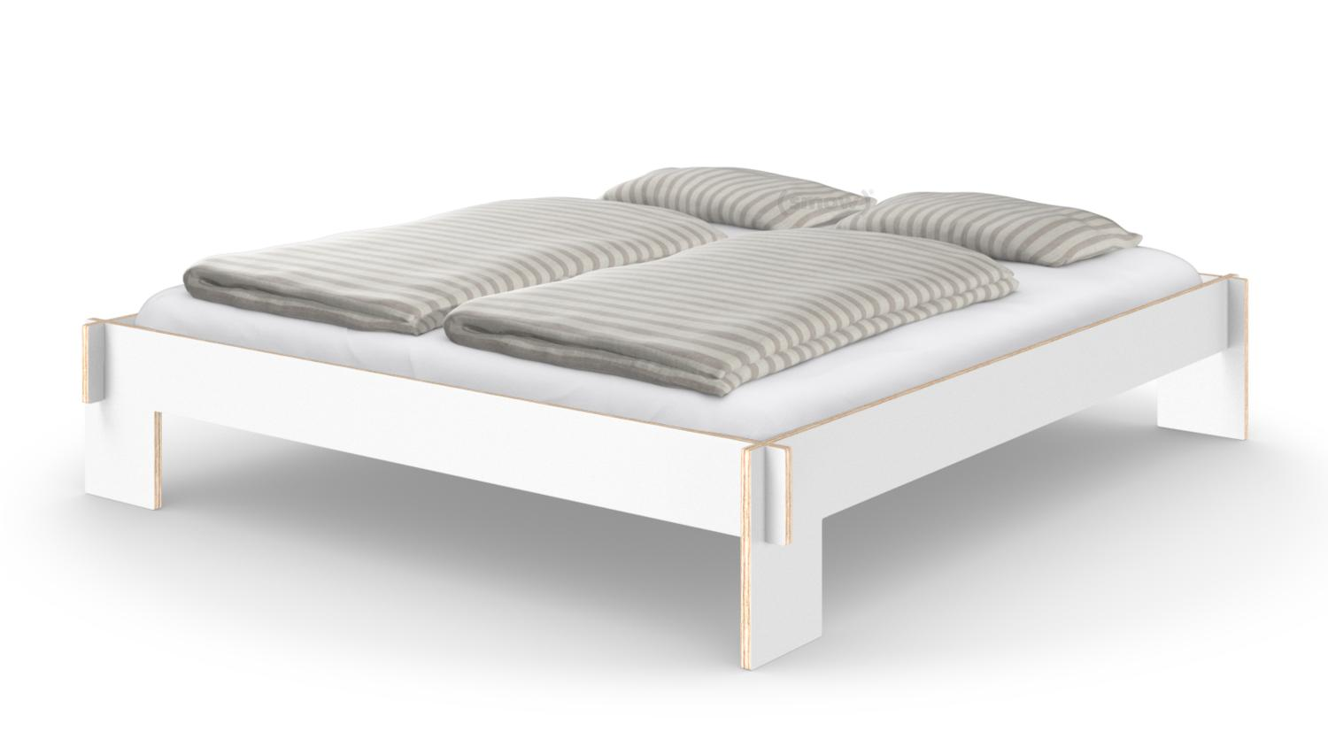 Chaise Nils Nils Holger Moormann Siebenschläfer 180 X 200 Cm Without Headboard White With Slatted Base