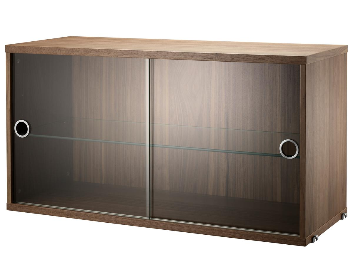 Hängeschrank Vitrine String System Display Cabinet With Sliding Glass Doors