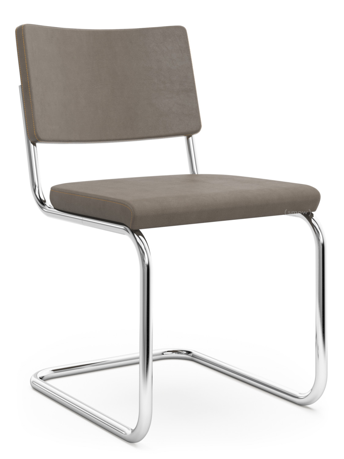 Thonet S32 Thonet S 32 Pv S 64 Pv Pure Materials Nubuck Leather Mid Brown Chrome Plated Walnut Without Armrests