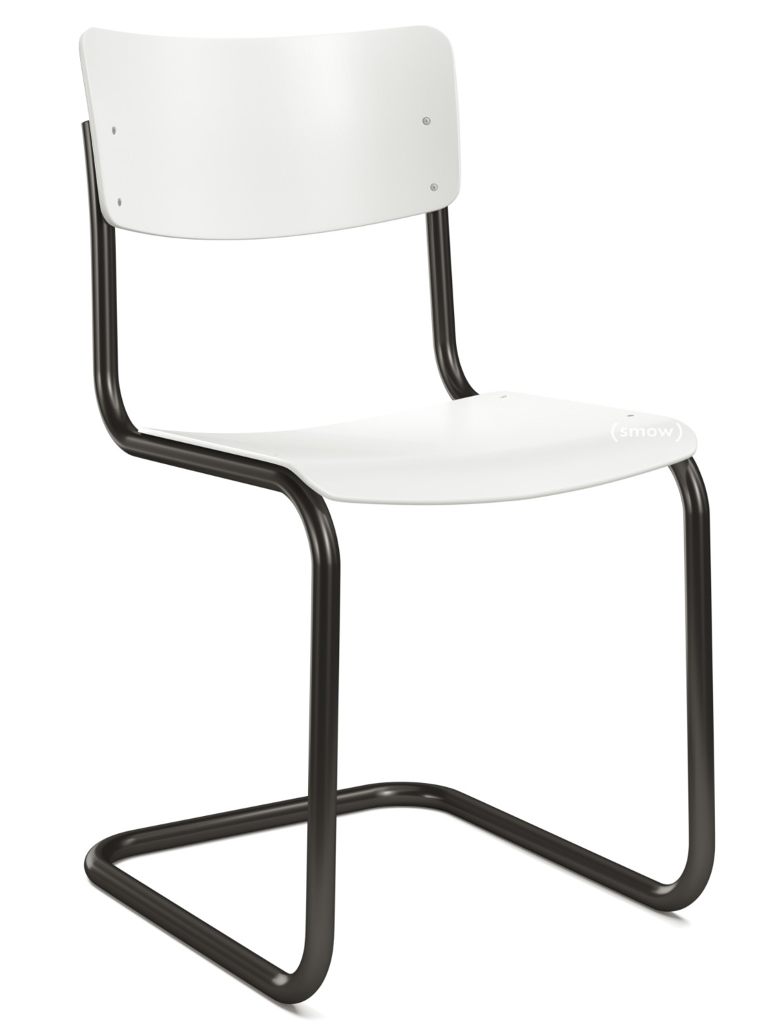Colour Ral 9010 Thonet S 43 Classics In Colour Black Lacquered Beech Pure White