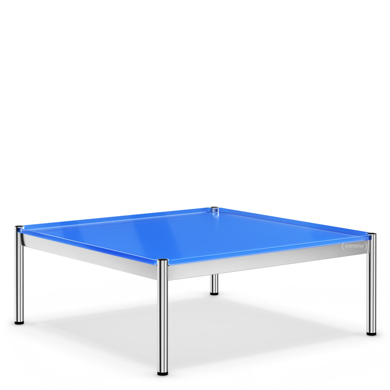 Couchtisch Plastik Usm Haller Coffee Table 100 X 100 Cm Glass Gentian Blue Ral