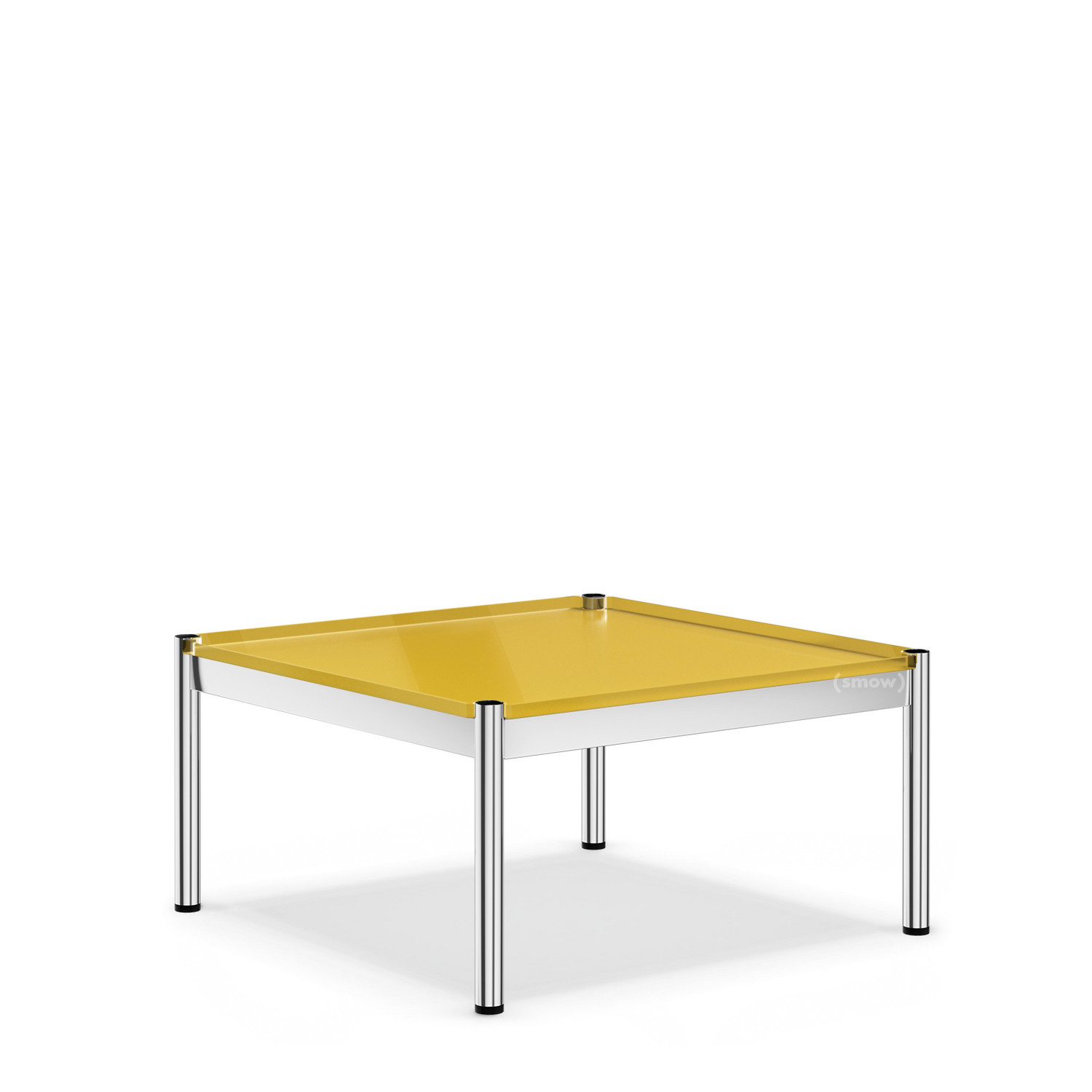 Usm Couchtisch Usm Haller Coffee Table 75 X 75 Cm Glass Golden Yellow Ral 1004