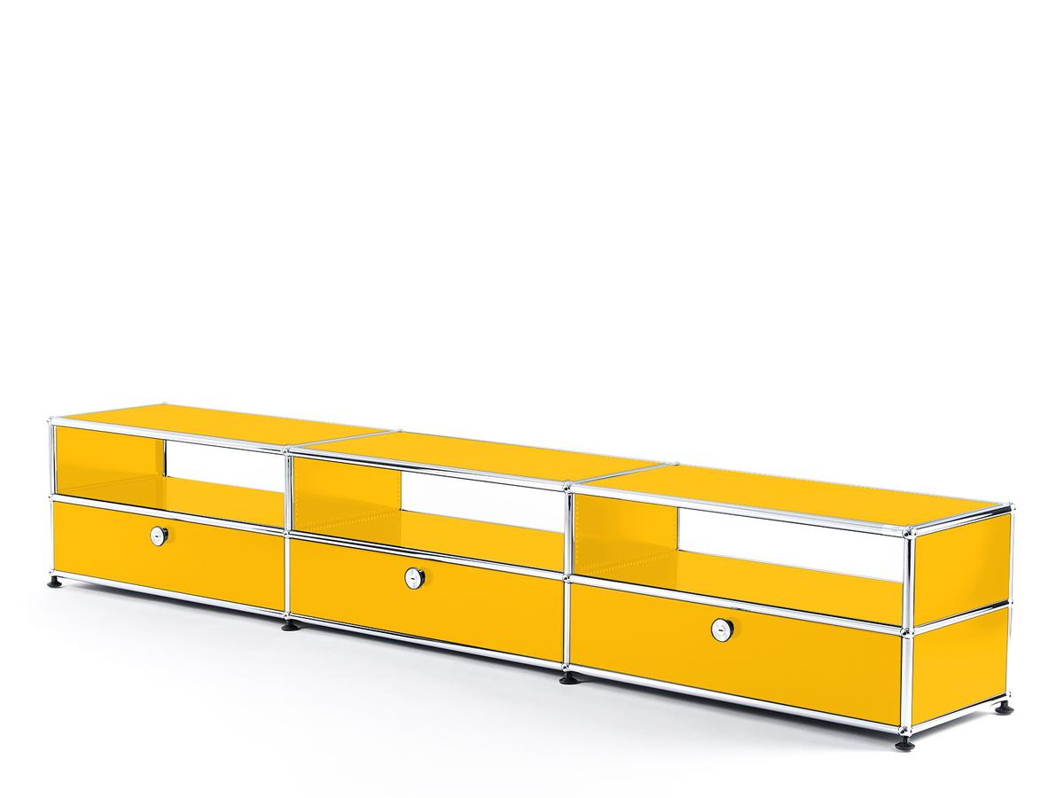 Usm Haller Hifi Lowboard Golden Yellow Ral 1004 By Fritz Haller Paul Schärer Designer Furniture By Smow Com