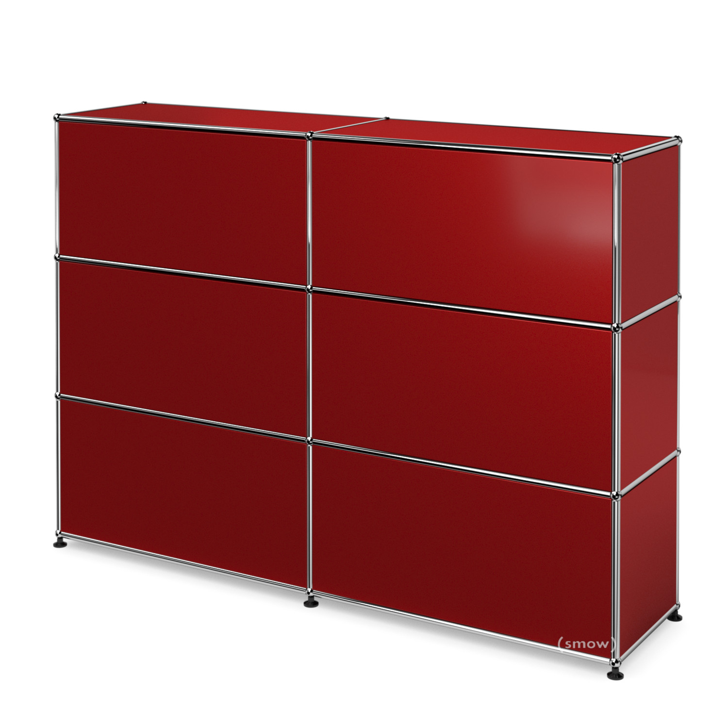 Usm Haller Counter Type 1 Usm Ruby Red 150 Cm 2 Elements 35 Cm By Fritz Haller Paul Schärer Designer Furniture By Smow Com