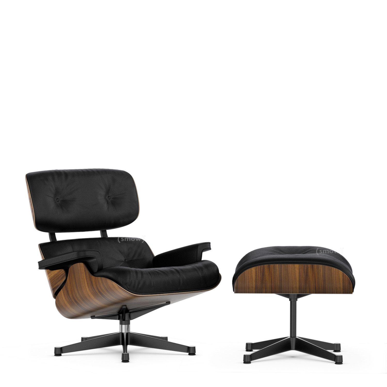 Charles Eames Vitra Lounge Chair Ottoman By Charles Ray Eames 1956