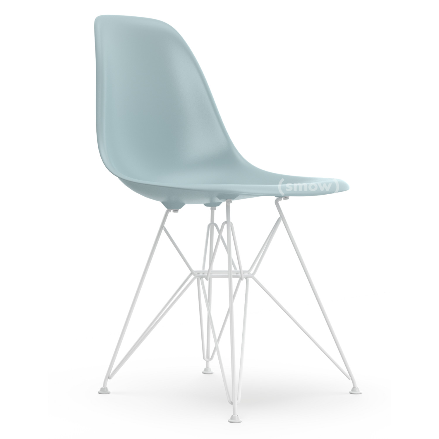 Eames Chair Weiß Vitra Eames Plastic Side Chair Dsr, Ice Grey, Without Upholstery, Without Upholstery, Standard Version - 43 Cm, Coated White By Charles & Ray Eames, 1950 - Designer Furniture By Smow.com