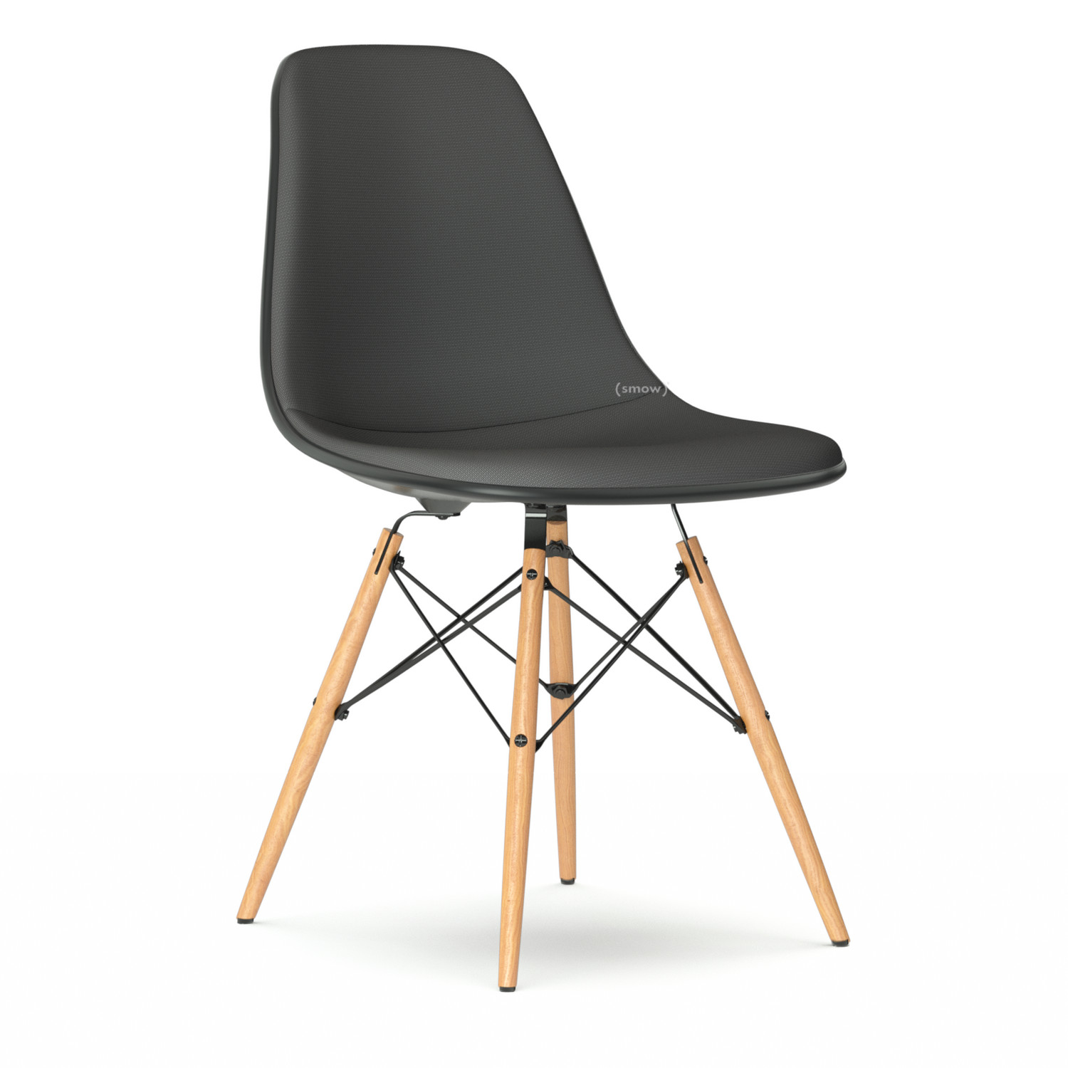 Eames Dsw Vitra Eames Plastic Side Chair Dsw Basalt Grey With Full