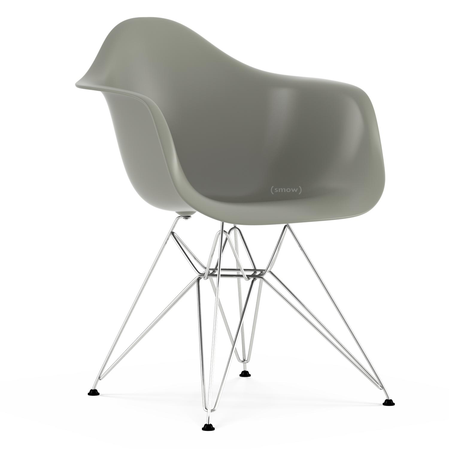 Vitra Eames Armchair Vitra Eames Plastic Armchair Dar Mauve Grey Without Upholstery