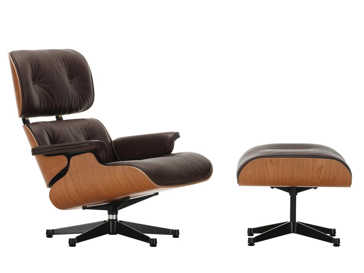 Sessel New Look Vitra Lounge Chair Ottoman Natural Edition