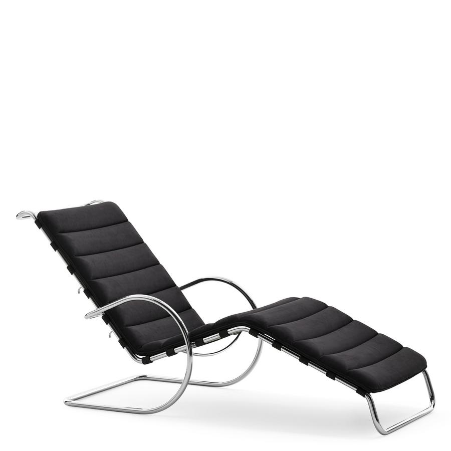 Bauhaus Liegestuhl Knoll International Mr Liege Bauhaus Edition Velour Black