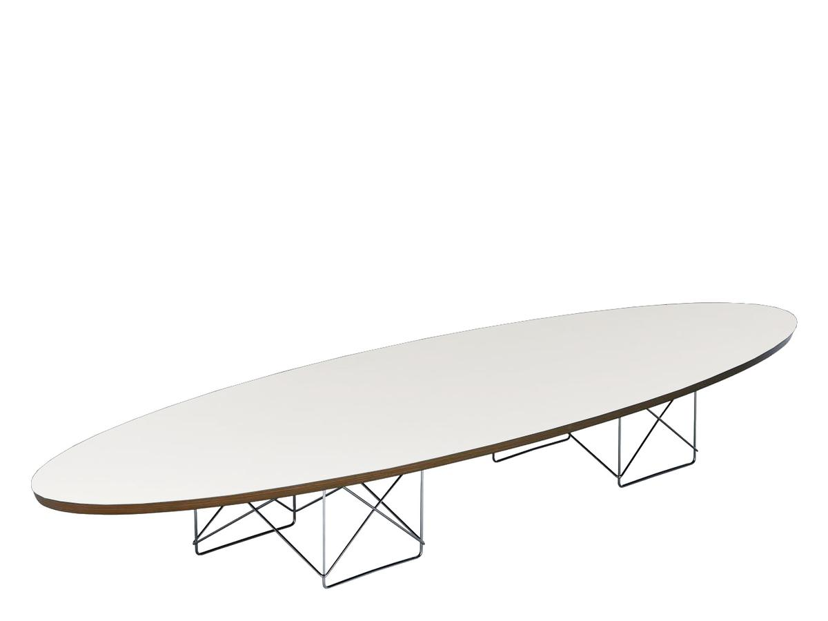 Couchtisch Eames Vitra Etr Elliptical Table Rod Base Weiß