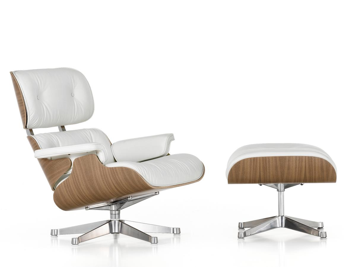 Charles & Ray Eames Sessel Vitra Lounge Chair Ottoman White Version Von Charles Ray