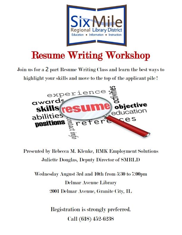 Resume Writing « Six Mile Regional Library District - resume workshop
