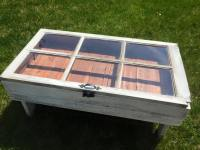 DIY Rustic Coffee Table from and Old Window with Storage ...