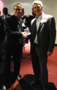 Caltrans Director Malcolm Dougherty (right), CalBike Executive Director Dave Snyder. Photo: Robert Prinz, Bike East Bay.
