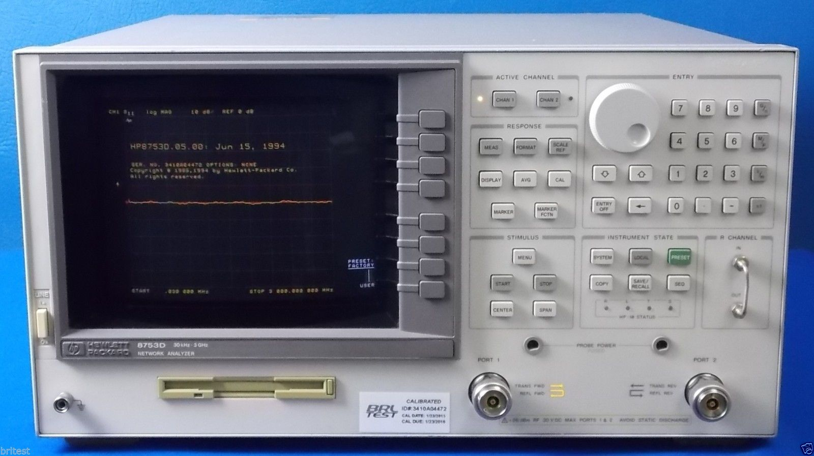 Network Analyzer Agilent 8753d Network Analyzer
