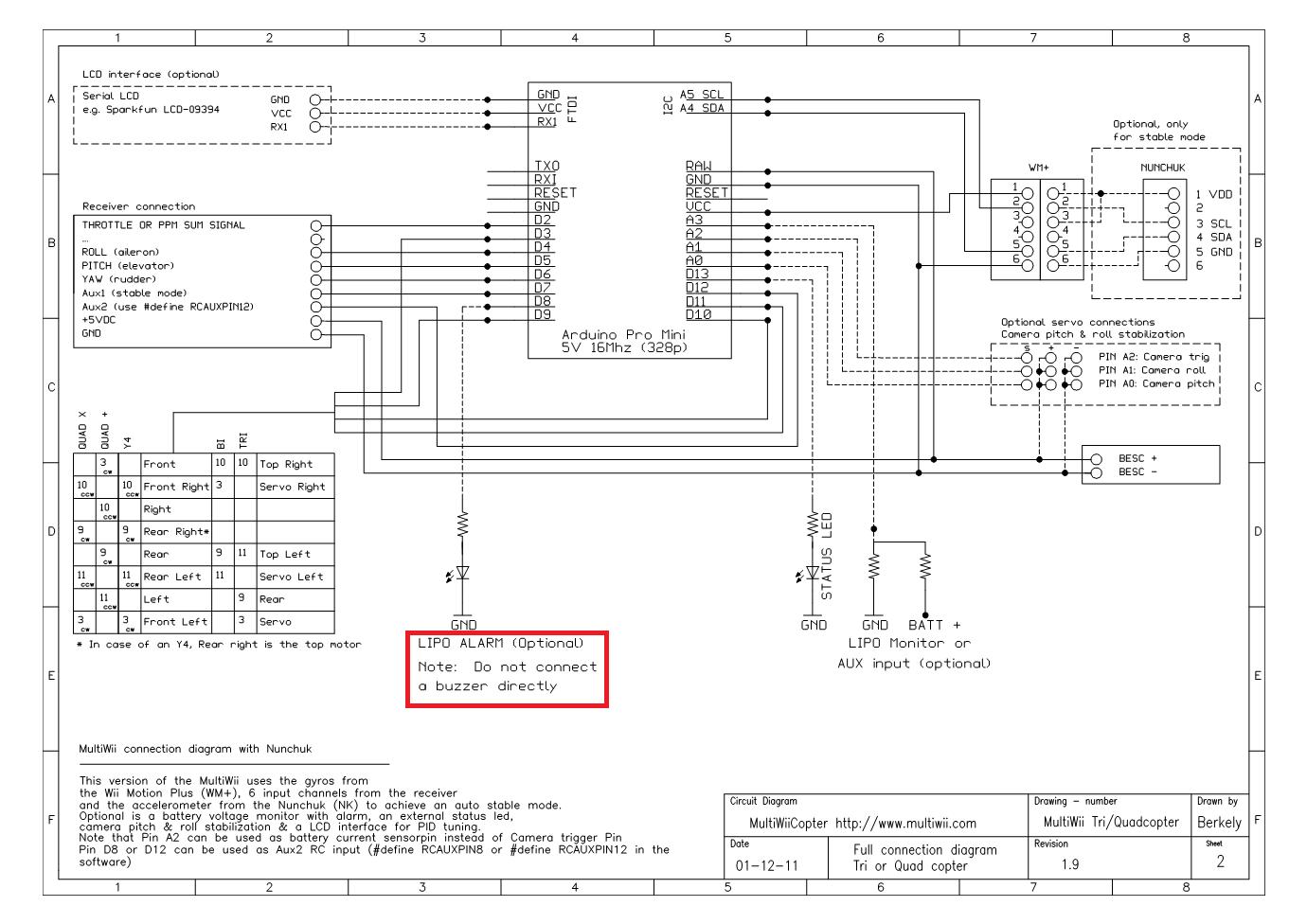 multiwii flight controller wiring diagram