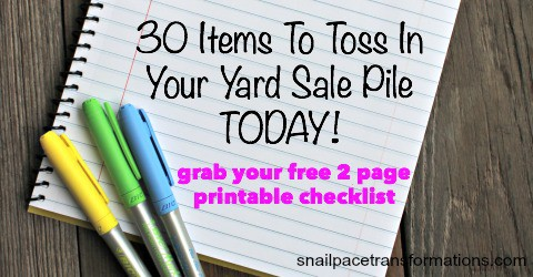 How To Prepare Items For Resale So You Get Top Dollar - printable checklist