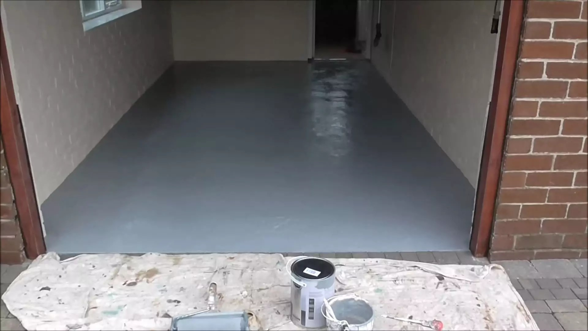 Garage Epoxy Cure Time Painting A Garage Floor Snap Goods