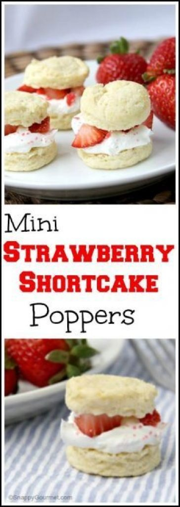 Strawberry Shortcake Poppers - homemade mini strawberry shortcakes recipe with SECRET ingredient! SnappyGourmet.com