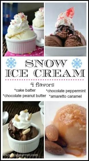 Snow Ice Cream Recipes   snappygourmet.com