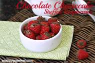 Chocolate Cheesecake Stuffed Raspberries