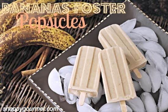 Bananas Foster Popsicles