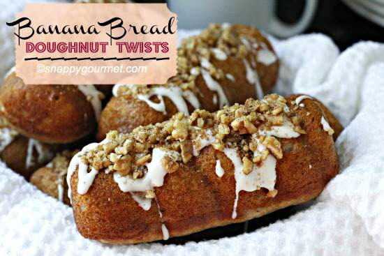 Banana Bread Doughnut Twists Recipe | SnappyGourmet.com