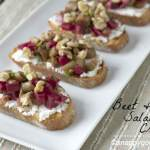Beet & Bean Salad Crostini